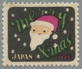 クリスマス郵便用シール 1949年
