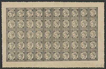 ニューカレドニア 1859年 1番切手50面完全シート