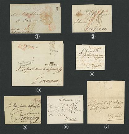 18世紀、19世紀 ヨーロッパのアンティーク手紙7点セット