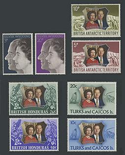 英国王室銀婚式記念切手コレクション