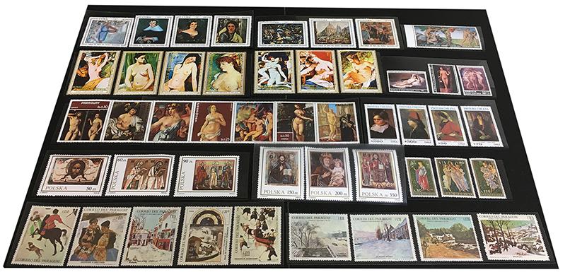 海外美術切手48種セット(No.21)