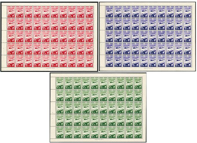 1937年 愛国募金3種 シート