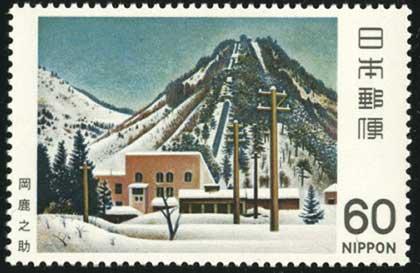 雪の発電所
