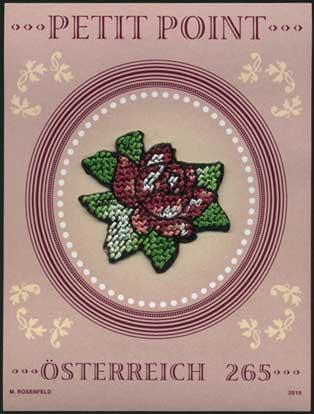 プチポワン刺繍切手 (Petit Point)