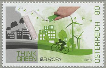 ヨーロッパ切手 グリーンを考える