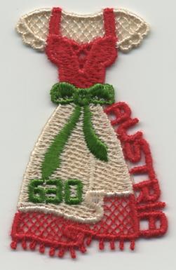 刺繍切手「ディアンドル」