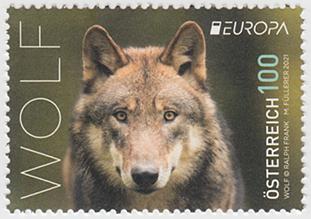 ヨーロッパ切手「オオカミ」
