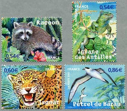 自然シリーズ 仏領の動物4種