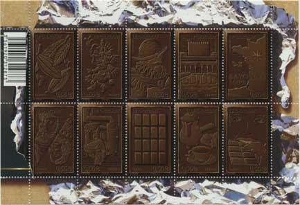 チョコレート400年・小型シート