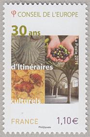 フランス 2017年公用切手・欧州...
