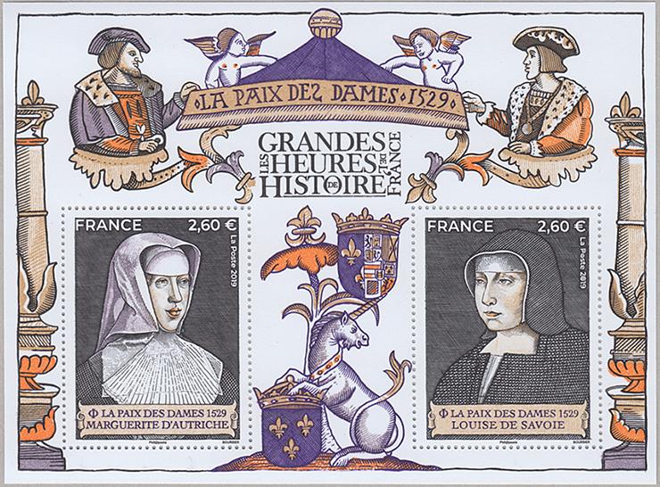 フランスの歴史 小型シート