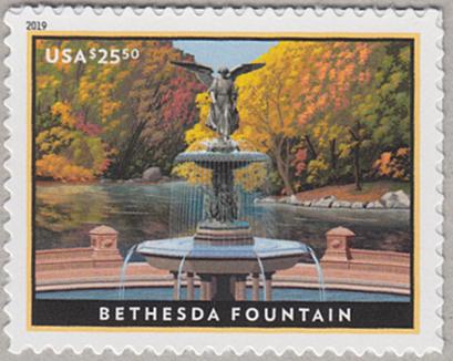 ベセスダの噴水速達切手