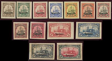 マーシャル諸島 1901年カイザーのヨット13種・specimen