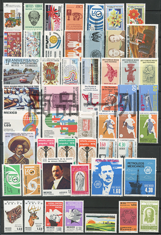 メキシコ未使用切手52種