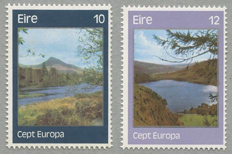 1977年ヨーロッパ切手2種