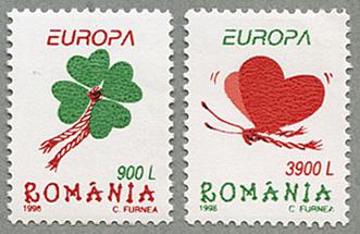 1998年ヨーロッパ切手2種