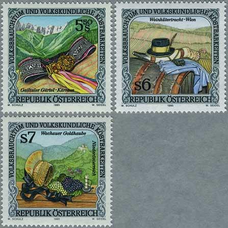オーストリア1995年慣習と民族的財宝3種