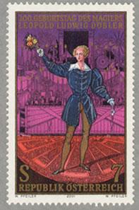 オーストリア2001年マジシャン デブラー生誕200年