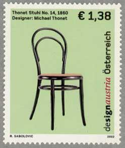 オーストリア2002年トーネットの曲木椅子14番
