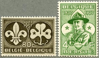 ベルギー1957年ボーイスカウト・ガールスカウト2種