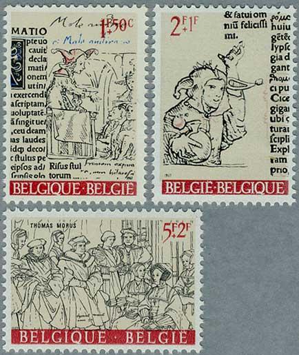 ベルギー1992年抽象画2種
