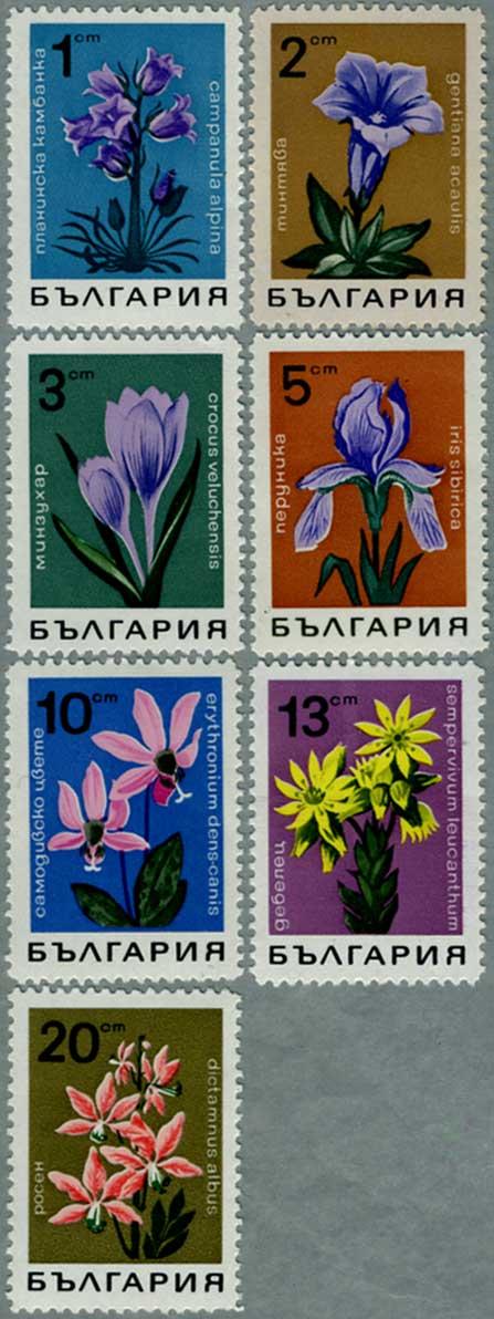 ブルガリア1968年花7種