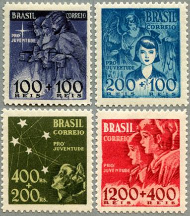 ブラジル1939-40年慈善施設40年4種