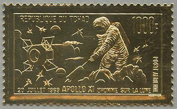 金箔切手 アポロ11号月面着陸