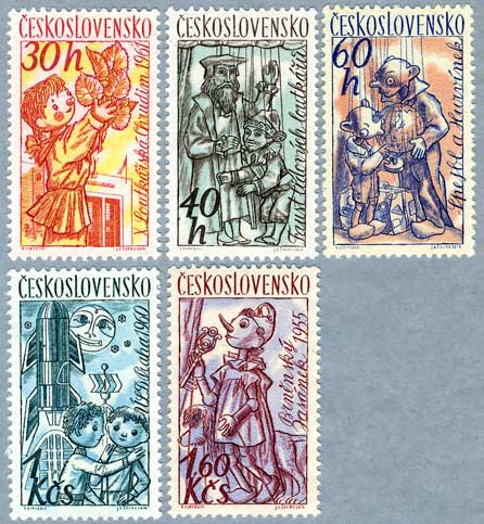 チェコスロバキア1961年あやつり人形など5種