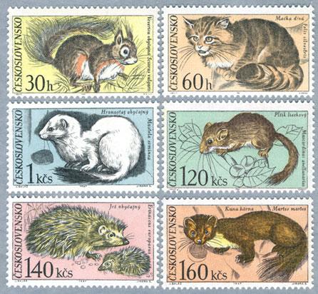 チェコスロバキア1967年Tatra国立公園の小動物6種