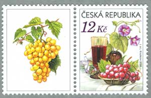 チェコ共和国2006年ぶどうとワインタブ付き