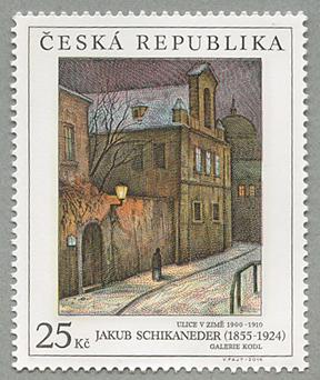 2014年美術切手Jakub Schikaneder