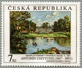 チェコ共和国1997年シャンティ城のある風景