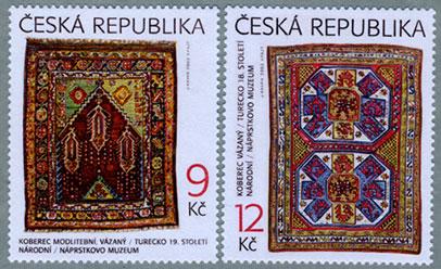 チェコ共和国2003年18世紀のペルシャ絨毯2種
