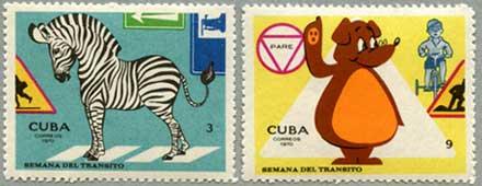 キューバ1970年交通安全2種