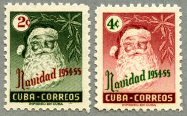 1954年クリスマス2種