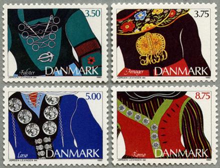 デンマーク1993年エスニックジュエリー4種
