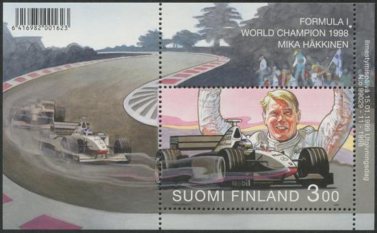 Mika Hakkinen F1チャンピオン 小型シート
