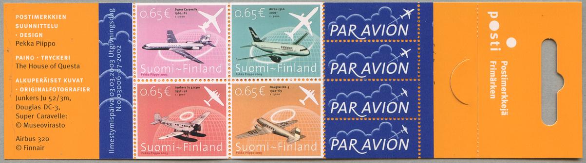 フィンランド航空80年 切手帳