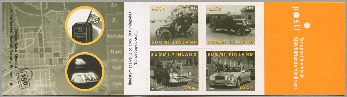 タクシー100年 切手帳