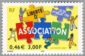 フラン 2001年結社法公布(パズルと人々)