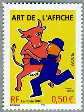 フランス2003年ヨーロッパ切手(ポスターアート)