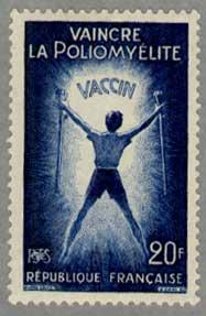 フランス1959年松葉杖を持った少年
