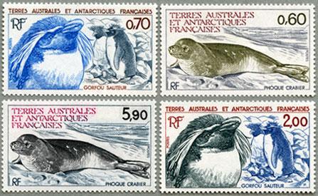 仏領南方南極地方1984年マカロニペンギンなど4種