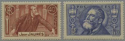 フランス1936年ジョレス暗殺22年2種