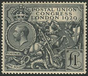 イギリス 1929年UPU会議 1ポンド