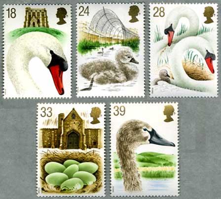 イギリス1993年白鳥飼育所5種
