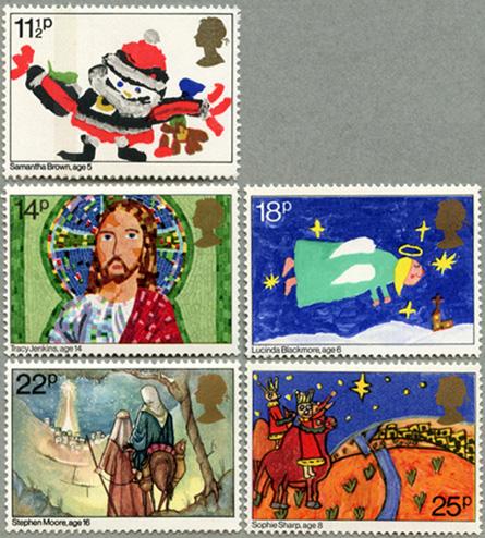 イギリス1981年クリスマス5種