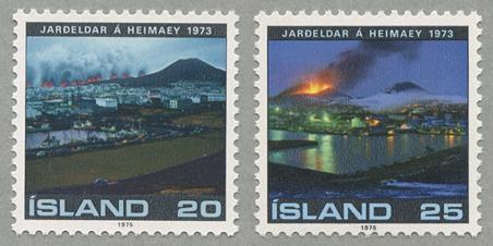 ヘイマエイ島の噴火2種