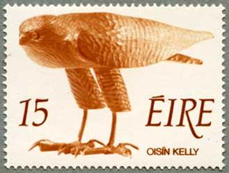 アイルランド1975年木彫りの猛禽